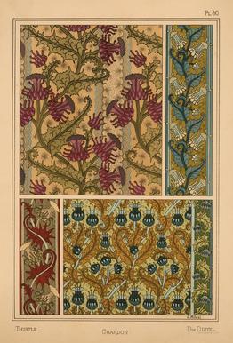 Eugene Grasset - Thistle 60 alu dibond