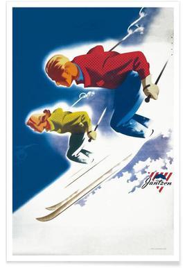 Jantzen by Binder, Man and Women, Ski 1947