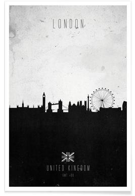 London Contemporary Cityscape Poster