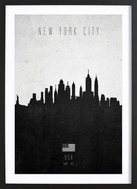 New York City Contemporary Cityscape Framed Print