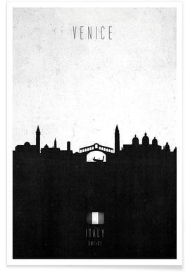 Venice Contemporary Cityscape Poster
