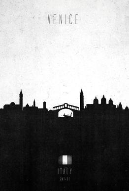 Venice Contemporary Cityscape -Acrylglasbild