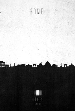 Rome Contemporary Cityscape -Acrylglasbild