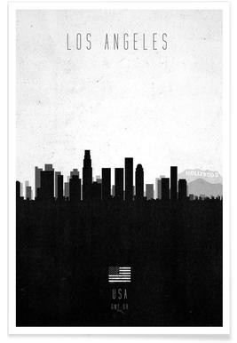 Los Angeles Contemporary Cityscape -Poster