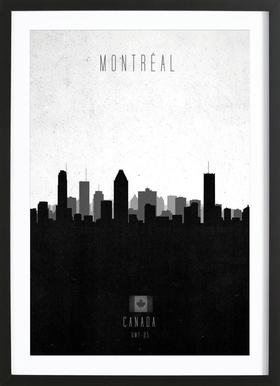 Montreal Contemporary Cityscape Framed Print