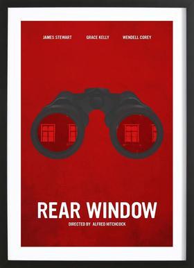 Rear Window -Bild mit Holzrahmen