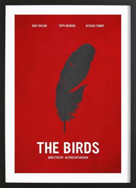 The Birds -Bild mit Holzrahmen