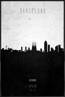 Barcelona Contemporary Cityscape affiche encadrée