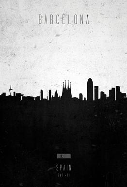 Barcelona Contemporary Cityscape Acrylic Print