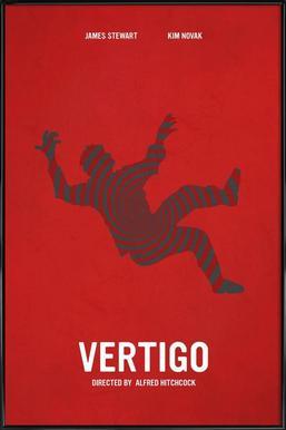 Vertigo affiche encadrée