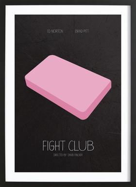 Fight Club -Bild mit Holzrahmen