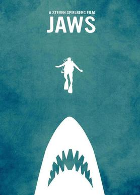 Jaws Inspired Canvas Print