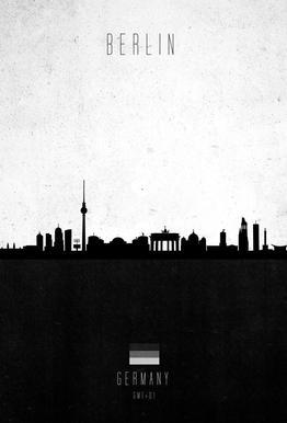 Berlin Contemporary Cityscape Acrylic Print