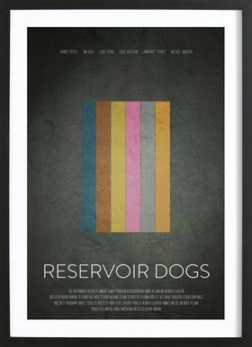 Reservoir Dogs -Bild mit Holzrahmen