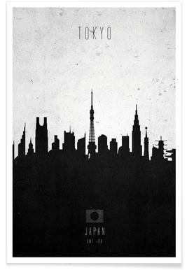 Tokyo Contemporary Cityscape Poster
