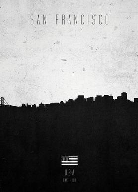 San Francisco Contemporary Cityscape Canvas Print