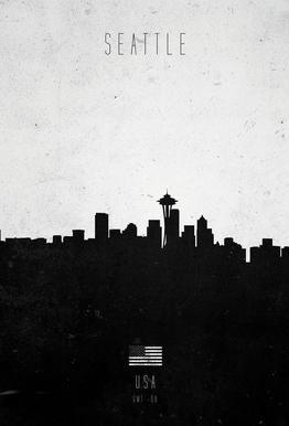 Seattle Contemporary Cityscape -Acrylglasbild