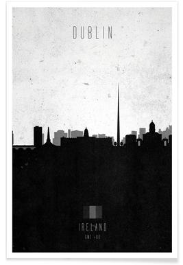Dublin Contemporary Cityscape -Poster