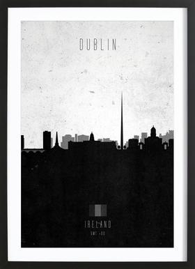 Dublin Contemporary Cityscape Framed Print
