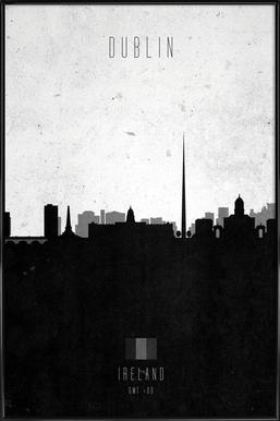 Dublin Contemporary Cityscape Framed Poster