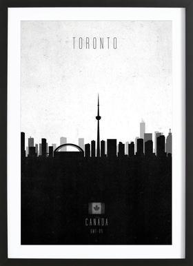 Toronto Contemporary Cityscape -Bild mit Holzrahmen