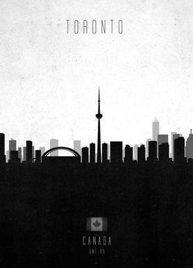 Toronto Contemporary Cityscape -Leinwandbild