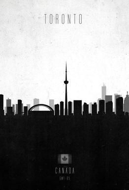 Toronto Contemporary Cityscape Acrylic Print