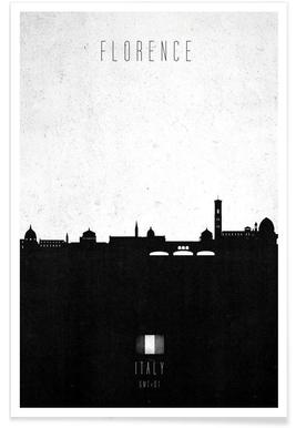Florence Contemporary Cityscape -Poster