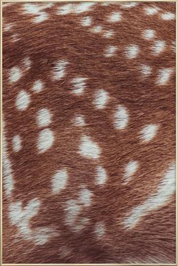 Deer Skin Poster in Aluminium Frame