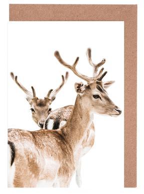 Deers II Greeting Card Set