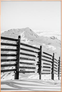 Going Down Hill Poster in Aluminium Frame