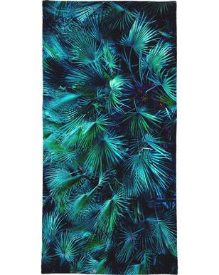 Amoung the Palm Leaves Beach Towel