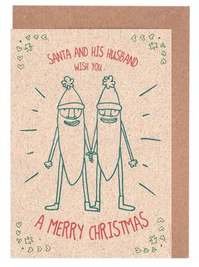 Santa & Husband Greeting Card Set