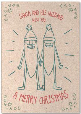 Santa & Husband Notepad