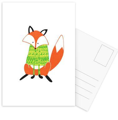 Shirt Fox Postcard Set