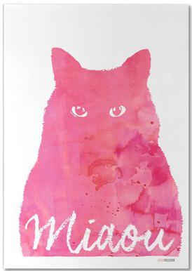 Miaou - Pink -Notizblock