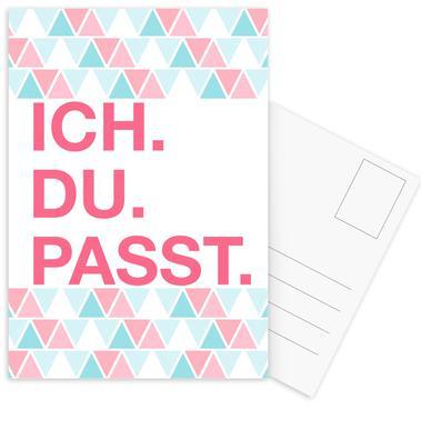 Ich Du Passt -Postkartenset