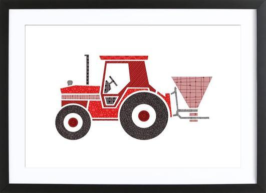 Traktor -Bild mit Holzrahmen