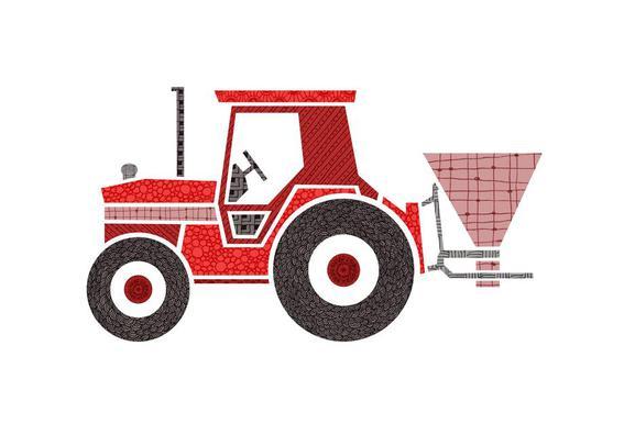 Traktor -Alubild