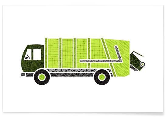 Müllwagen -Poster