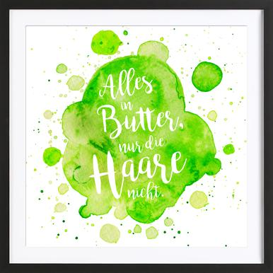 Alles in Butter -Bild mit Holzrahmen