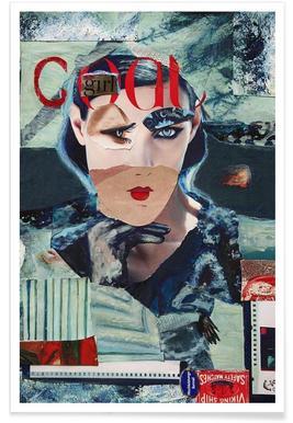 Cool Girl Poster   JUNIQE