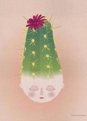 Musings Cactus Canvas Print