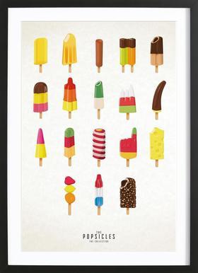 The Popsicle Project -Bild mit Holzrahmen