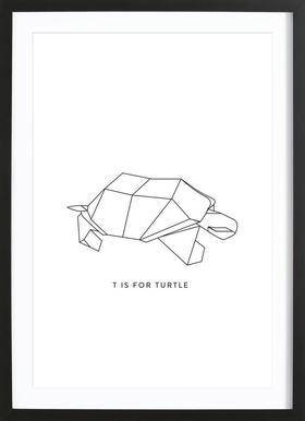T Framed Print