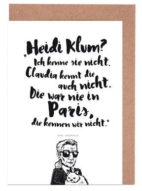 Heidi war noch nie in Paris -Grußkarten-Set