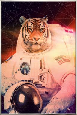 Astrotiger Poster in Aluminium Frame