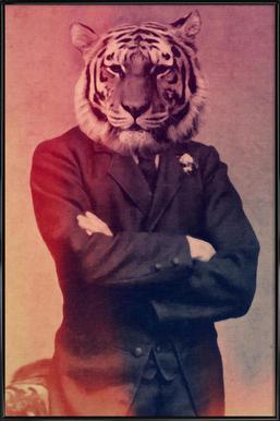 Old Timey Tiger ingelijste poster