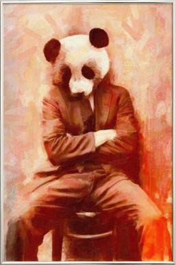Sad Panda poster in aluminium lijst