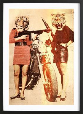 Tiger Girls Framed Print